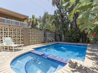 Photo for Single Level Beach House with Heated Pool & Hot Tub! Right Across from the Beach!