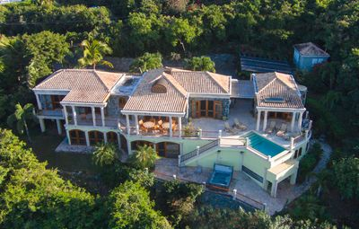 Photo for Oceana: Classic Caribbean Native Stone 6 Bdrm Villa with Pool and Sparkling View