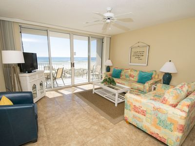 Photo for Incredible Gulf Views ~ Gulf Front Island Princess Condo w/ Private Balcony and Beachfront Pool!