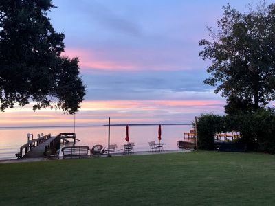 Photo for Lakefront home with private dock & boat landing!