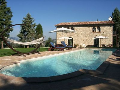 Photo for Two Bedroom Split Level Apartment Perugia Umbria   Calidario U, one half of a detached restored barn,