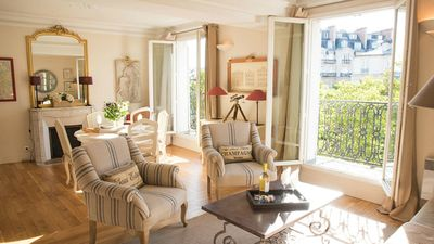 Photo for SALE! Incredibly Romantic Light Filled 1 Bed w/Balcony and Amazing Eiffel View