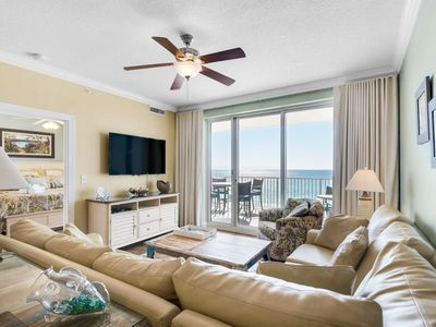 Photo for FREE BEACH SERVICE! Large Corner Unit! Gulf Front Master! Free Tickets to Gulf World! Ocean Reef