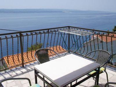 Photo for Two bedroom apartment with terrace and sea view Pisak (Omiš)