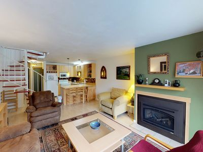 Photo for Renovated, dog-friendly condo w/ mountain views, access to hiking & skiing