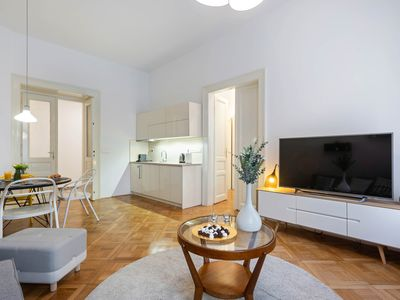 Photo for Elegant apartment close to major attractions w/ a kitchenette & free WiFi