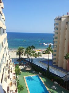 Photo for Apartment 20 m away from the beach, seafront, pool, terrace