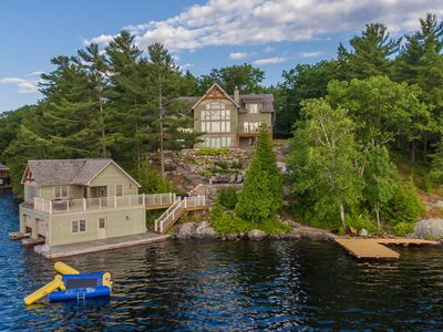 Photo for Acton Island - Gorgeous cottage & boathouse! Fun for all!