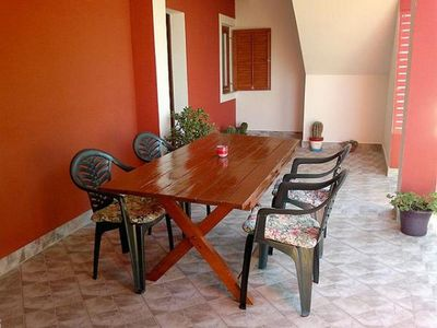 Photo for One bedroom apartment with terrace Vrsi (Zadar)