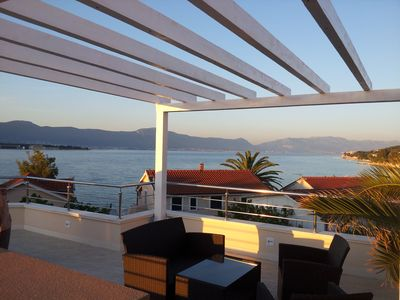 Photo for Charming villa with stunning sea view, place for a BOAT, VILLA ZARA TROGIR