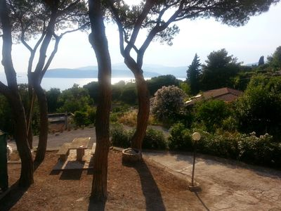 Photo for Sea view apartment in Villa 700 meters from the sea (parking and private pine forest)
