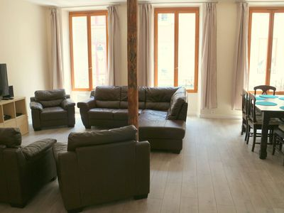 Photo for Light, spacious 3 bed apartment in central Bourg d'Oisans