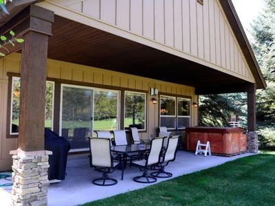 Photo for Fairway Escape: Golf Course Frontage, Hot Tub, Outdoor Dining