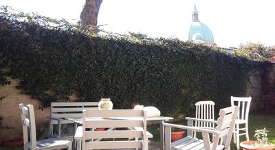 Photo for Apartment in Lucca with large garden 2 cars and bikes