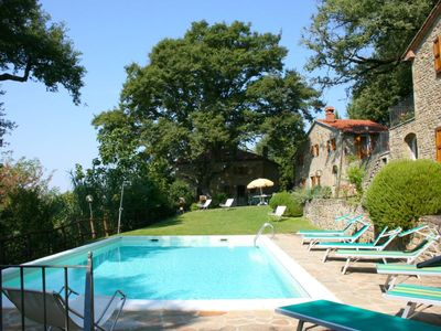 Photo for Old independent farmhouse  with private pool and garden. Province of Arezzo.