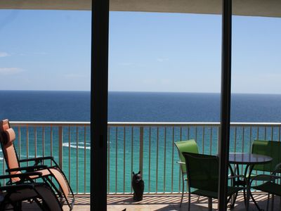 Photo for Direct beach frontage, beautiful view.  Heated indoor pool.