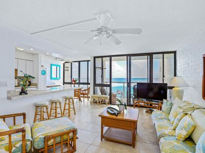 Fourth floor condo with unobstructed ocean views