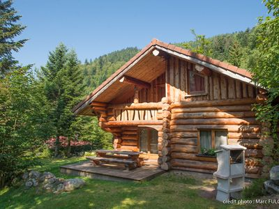Photo for Beautiful log cabin of 130 m² all comfort in La Bresse, wifi, very quiet