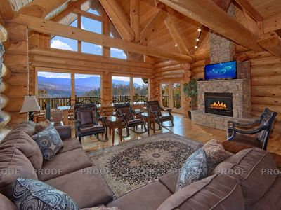 "Photo for Apr 20-May 3 Open!  Cabin w/ ""Honeymoon Suite"", Mtn Views, Hm Theater, Game Rm"