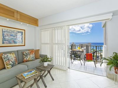 Photo for Nice Ocean View, central A/C, quick walk to beach!  Sleeps 3.