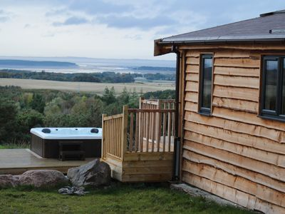 Photo for Stunning views from hot tub, idyllic, stylish and private