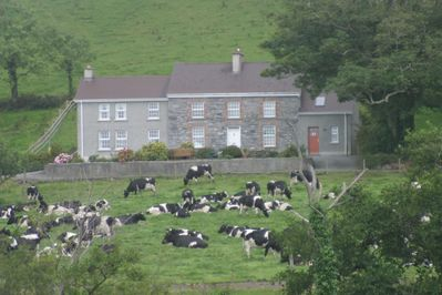 The Hilltown House: pictured with the ladies on the front meadow.