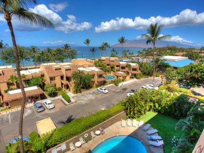 Photo for Watch sunsets and whales from this centrally located, furnished South Maui condo