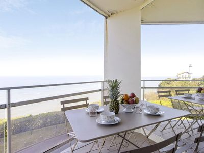 Photo for Bright T2 with balcony and sea view in Biarritz