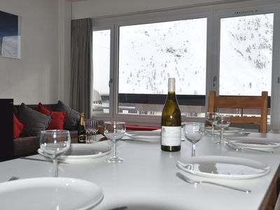 Photo for Beautiful apartment completely renovated, 8p, Foot slopes of Tignes Le Lac, WIFI