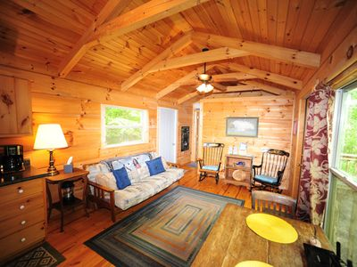 Photo for Cozy Cottage by the river! Private and close to all nearby attractions!