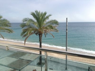 Photo for Apartment in Sesimbra in 1st line of beach, facing the sea and central