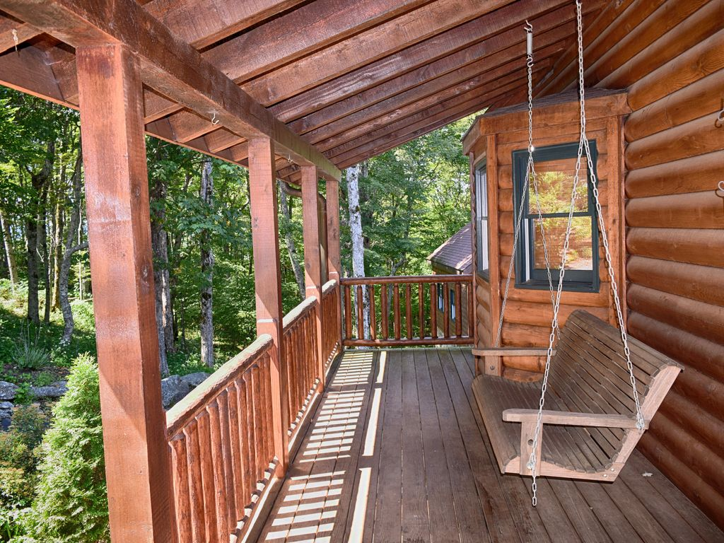 Beautiful custom log cabin formerly owned by nascar driver for Wallace custom homes