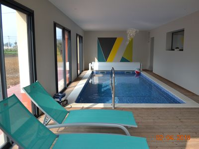 Photo for House private indoor pool not overlooked heated to 30 ° C in Normandy