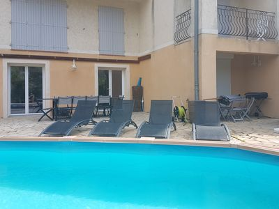 Photo for PROMO 4P conditioned in villa with swimming pool and garden