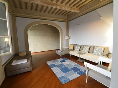 Photo for APARTMENT IN OLD TOWN IN PISA bright with views of rooftops and MONUMENTS.