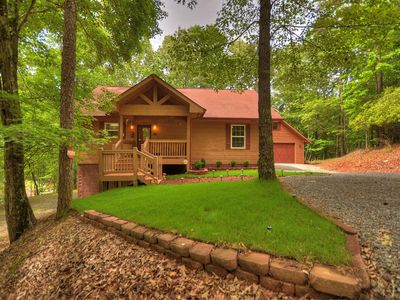 Photo for Jake's Hideaway is your cozy getaway with fireplace,hot tub,pool table,Wi-Fi