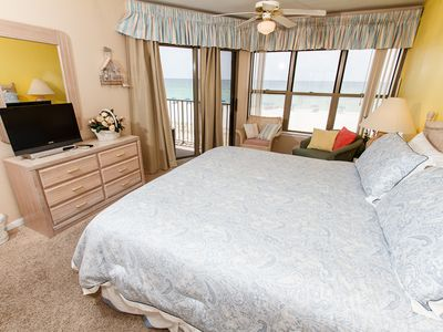 Master Bedroom  - Wake up in paradise! Enjoy the amazing views from the beach front master bedroom. This room has a balcony entry!
