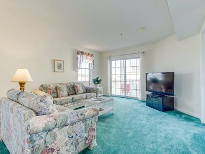 Photo for Spacious Condo, across the street from the beach, overlooking the inlet