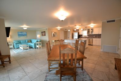 Great open floor plan Enjoy views of ocean while having a feast.  Table seats 10