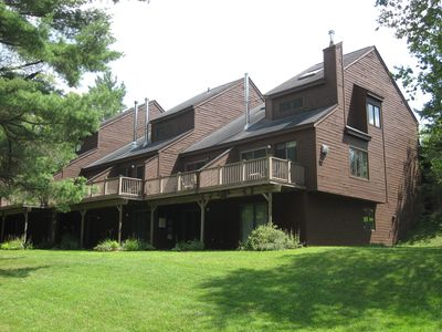 Photo for Burkeside condo steps away from Sherburne Lift and Lodge. Direct KT access!