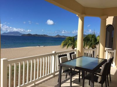 Photo for 2 Bedroom Beach Front Villa located on Pinney's Beach