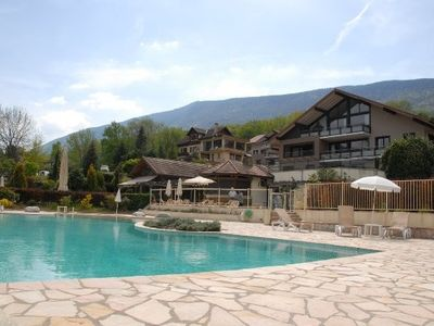 Photo for Apartment in residence with swimming pool, near Lake Annecy