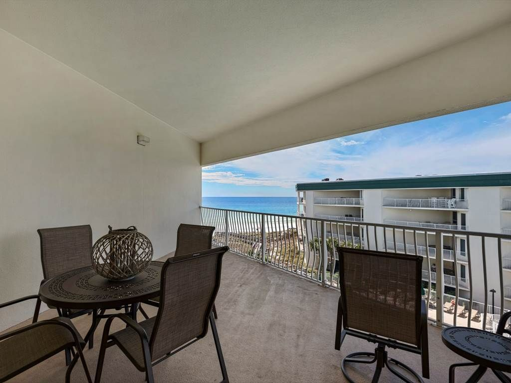 AWESOME  gulf and pool views from top floor!  Pool, tennis, fitness room!