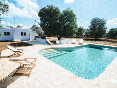 Photo for Authentic countryside trullo with pool