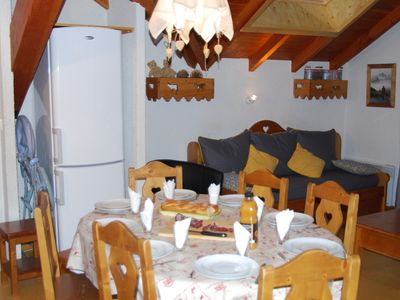 Photo for Valloire - charming duplex apartment in the center with Wifi