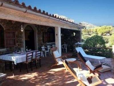 Photo for Detached villa in a unique position!!  with large panoramic terrace and private entrance to the sea ! AC - 8 GUESTS - 4 BEDROOMS!