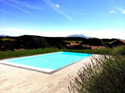 Photo for Large architect villa Exceptional mountain view with heated pool
