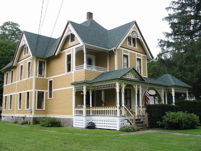 Photo for Catskills Victorian With Fireplace & Mountain Views for skiing, fishing & hiking