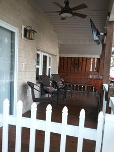 Covered & Gated Front Porch