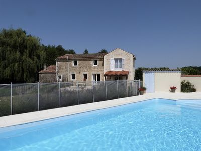 Photo for Delightful Moulin with Private Heated Saltwater Pool, WiFi, 20 mins from coast